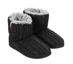 Dearfoams Women's Memory Foam Sweater Knit Indoor/Outdoor Bootie Slipper... - €20,43 EUR