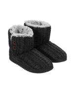 Dearfoams Women's Memory Foam Sweater Knit Indoor/Outdoor Bootie Slipper... - $30.52 CAD