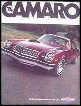 1974 Chevy Camaro Brochure, Sport Coupe LT Z28, Options - $6.93