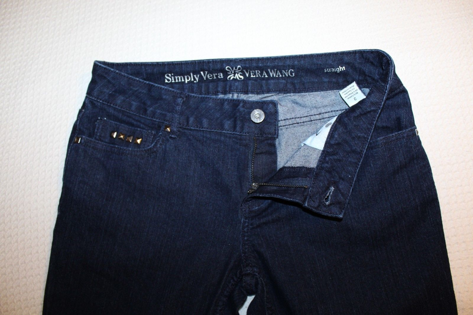 SIMPLY VERA VERA WANG Womens BOYFRIEND JEAN SHORTS SIZE 6 Stretch DENIM Mid-rise