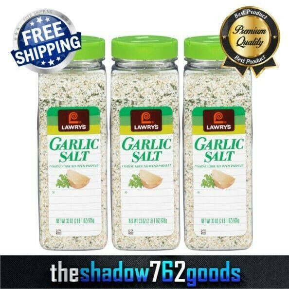 Lawry's Seasoning Coarse Ground Garlic Salt with Parsley 33 oz Bottle 3-PACK NEW - $39.19
