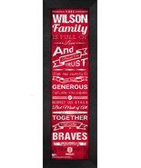 "Personalized Bradley University Braves ""Family Cheer"" 24 x 8 Framed Print - $39.95"