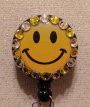Happy Face Badge Reel - Happy Face Badge - Smiley Face Badge - Smiley Fa... - $9.95