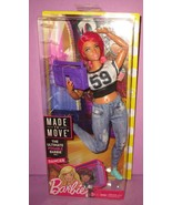 Barbie 2018 Curvy Dancer Made To Move MTM Pink Hair Boombox Doll New In ... - $25.00