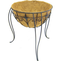 Panacea Black Plant Stand With Liner & Finial 16 Inch 093432891773 - $41.41