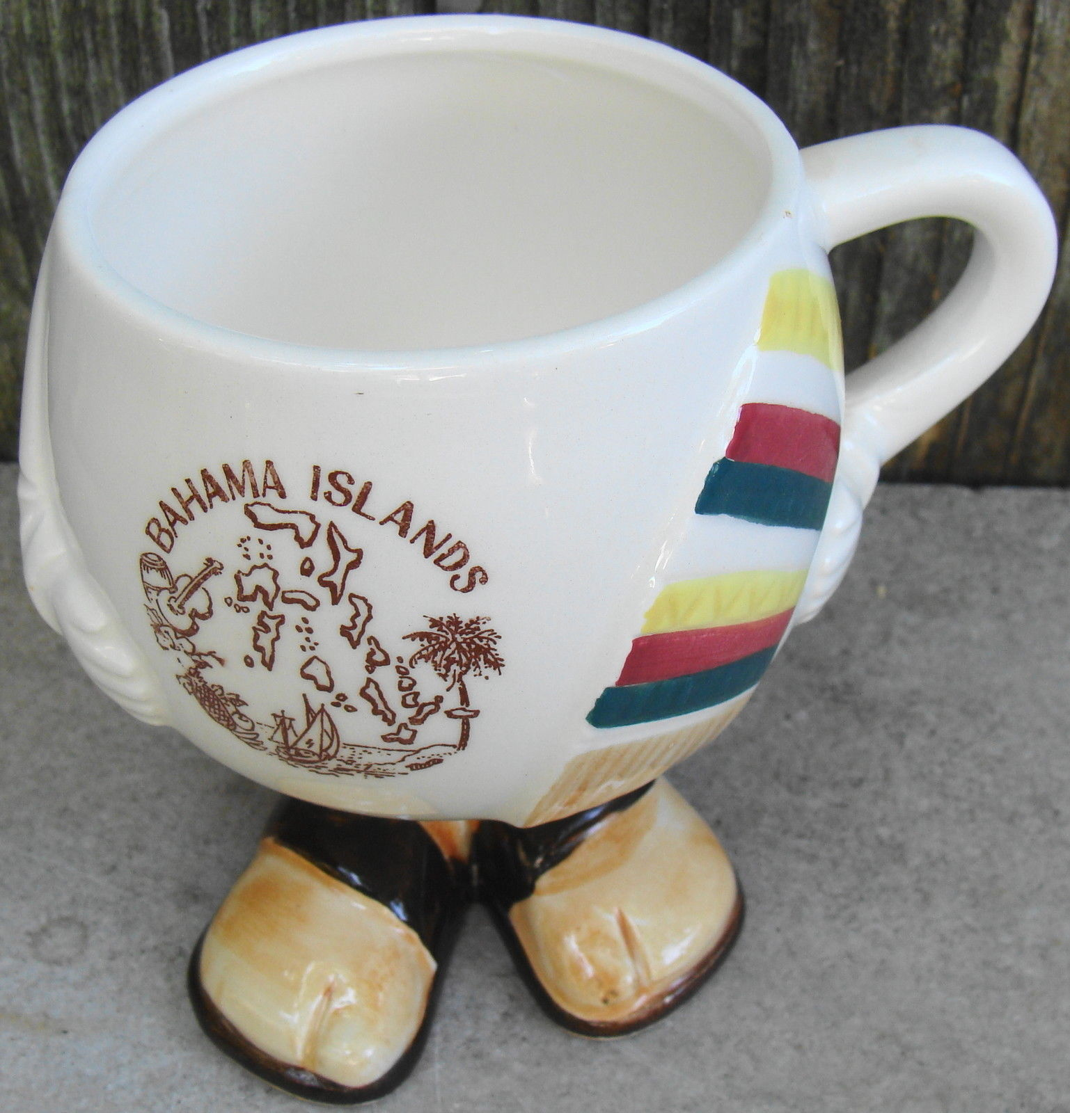 Primary image for Bahama Islands Body w Feet Mug Cup Vintage