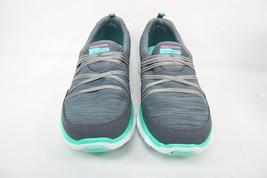 Skechers Sport Womens Scene Stealer Fashion Walking Sneaker Charcoal/Aqu... - £38.14 GBP