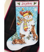 Dimensions Winter Friends Snowman Deer Christmas Cross Stitch Stocking K... - $39.95