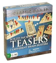 SALE! Solid Wood Teasers 7 Different Brain Busters Family Fun Age 6+ Dam... - $15.34