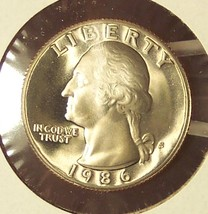 1986-S DCAM Proof Washington Quarter PF65 #0317 - $3.19