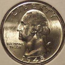 1945-D Washington Silver Quarter GEM BU #00171 - $39.99
