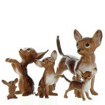 Hagen Renaker Pedigree Dog Chihuahua Begging Brown and White Ceramic Figurine image 12