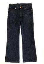Tommy Hilfiger Womens Jeans Size 4 Short Dark Blue Denim Back Flap Pocket - $21.03