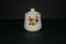 Vintage Round Sugar Bowl Strawberry Pattern Made in Japan - $14.85