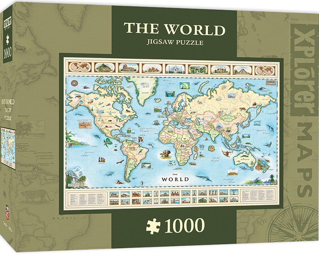 The world map 1000 pc jigsaw puzzle by and 32 similar items the world map 1000 pc jigsaw puzzle by and 32 similar items 57 gumiabroncs Gallery