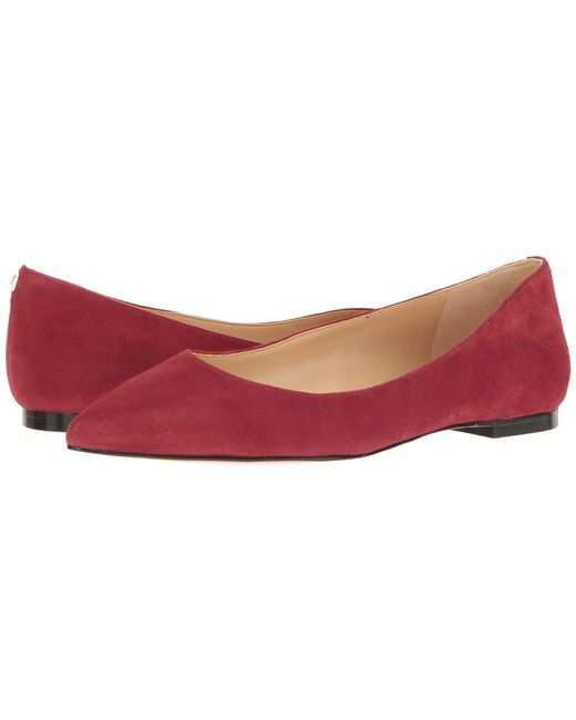 Sam edelman tango red kid suede leather rae