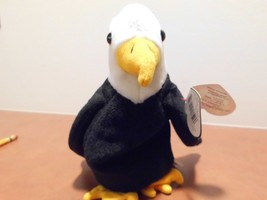 Ty Beanie Babies Baldy the Bald eagle,no stamp,PVC,swing tag error - $7.99