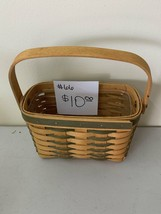 2001 Longaberger Basket small tour basket with plastic liner - $10.00
