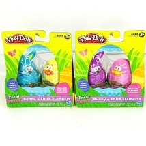 Lot of 2 - 2 Pack Hasbro Play-Doh Bunny & Chick Stampers Easter Age 3 an... - $10.93