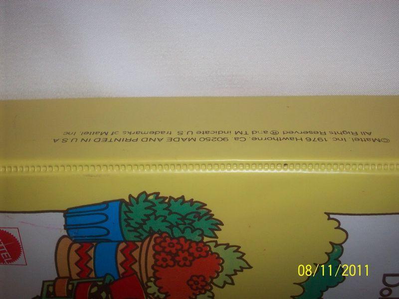 RARE 1970'S Vintage Sunshine Family Doll Craft Vinyl Case HT