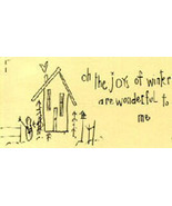 Joys of Winter OOP Primitive Stitchery pattern tea dyed - $3.00