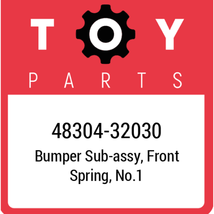 48304-32030 Toyota Bumper Spring, New Genuine OEM Part - $32.08