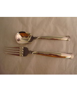 1  Stainless Dinner Fork and 1  Stainless Sugar Spoon Rattan Pattern by ... - $12.00
