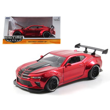 2016 Chevrolet Camaro SS Widebody Candy Red with Black Stripes Big Time ... - $29.90