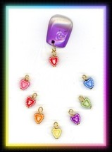 Valentines CANDY HEARTS Nail Art Dangles .. Storage - $8.06