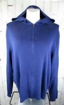 Polo Ralph Lauren mens XL Sweater Jacket Hoodie Midnight Blue Heavy Cott... - $25.00