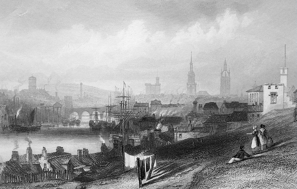 Primary image for ENGLAND Newcastle upon Tyne - 1860s Engraving Print