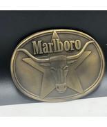 VINTAGE BELT BUCKLE collectible advertising 1987 marlboro philip morris ... - $25.74