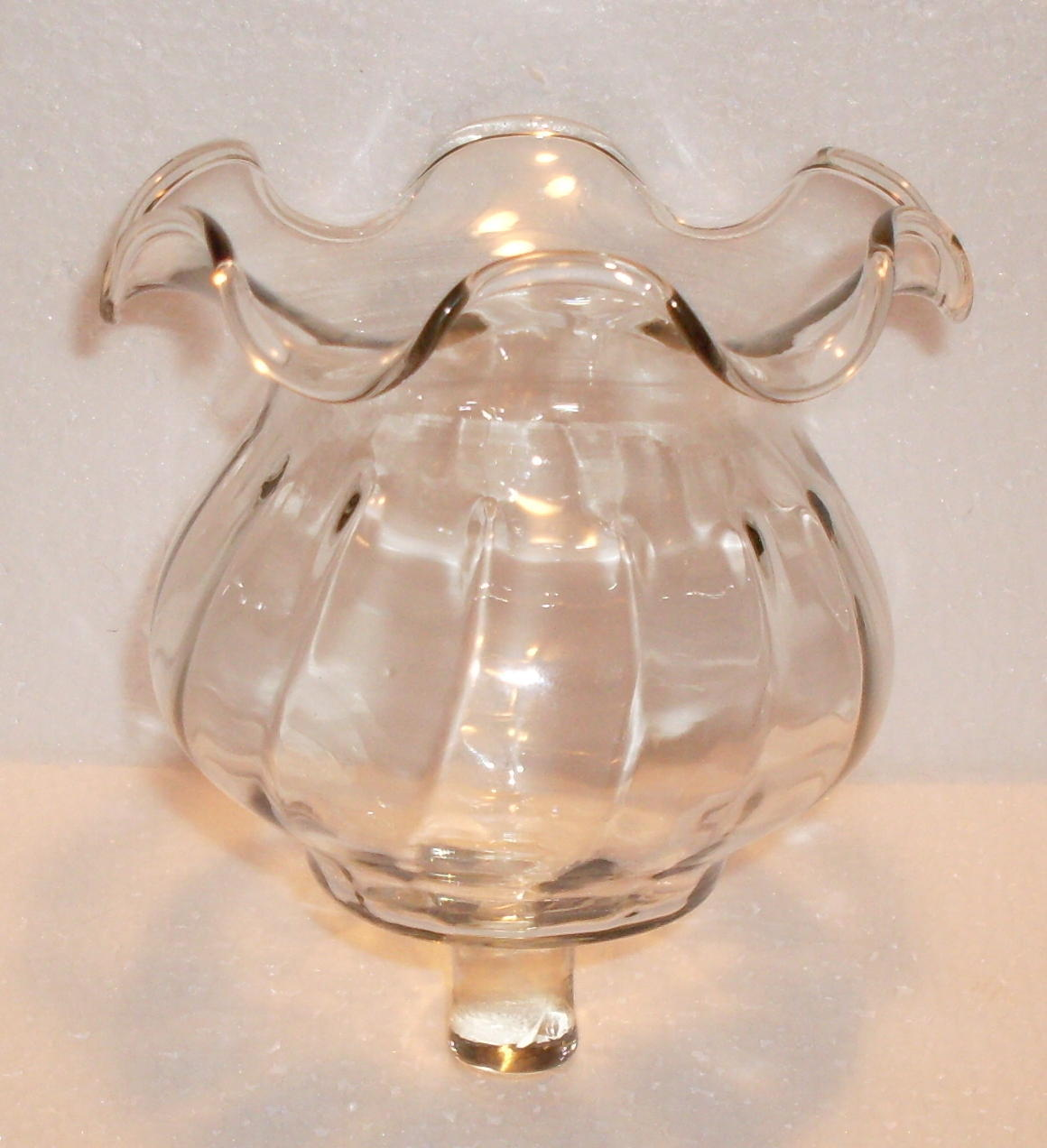 Home Interiors Victorian Style Peg Votive Cup Clear Glass Ruffled Candle Holders Accessories