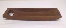 "Vintage Imperial International Genuine Teak 15"" Long Serving Tray Bowl - $26.41"