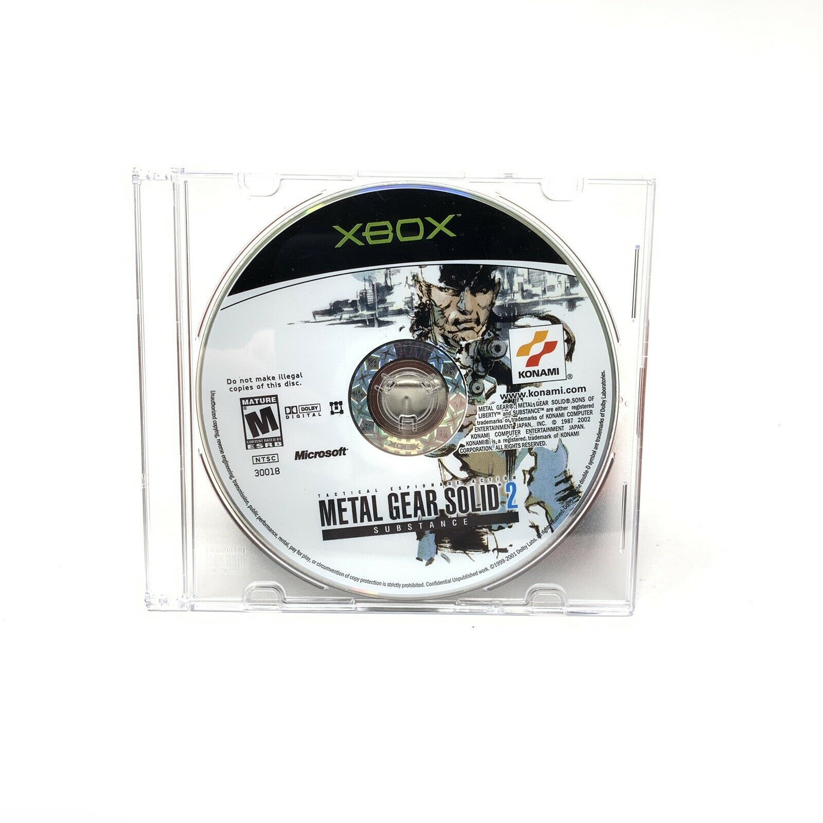 Metal Gear Solid 2 Substance Microsoft Xbox 2002 Disc Only Tested