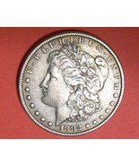 Silver Dollar Morgan 1882  Die Error Obverse Legend   - $57.57 CAD