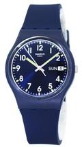 Swatch Originals Sir Blue Quartz Gn718 Unisex Watch - $76.50