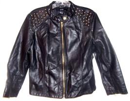 Sz Jrs L - Forever 21 Black Studded Polyurethane Jacket looks just like ... - $37.99