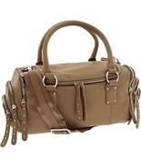 NWT MAX & CLEO Chino Leather Zipper Satchel Handbag Bag NEW (MAKE AN OFFER) - $230.37
