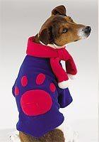 DOG Casual Canine Chilly Day Fleece Jacket & Pom Pom Scarf  SMALL