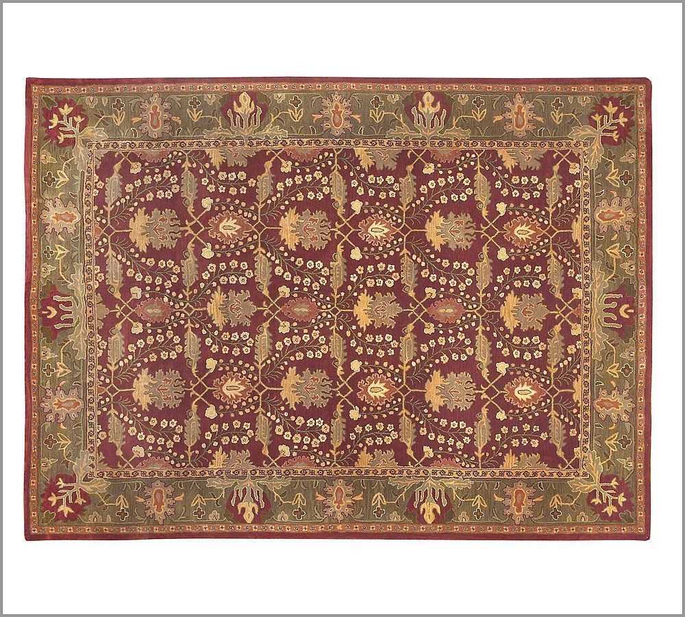New Pottery Barn Handmade Persian Franklin Rug 8x10 Rugs