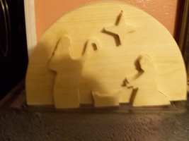 Wooden raised nativity sign/display - $10.00