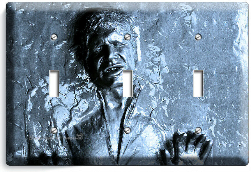 HAN SOLO FROZEN IN CARBONITE STAR WARS 3 GANG LIGHT SWITCH WALL PLATE ROOM DECOR