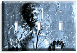 HAN SOLO FROZEN IN CARBONITE STAR WARS 3 GANG LIGHT SWITCH WALL PLATE RO... - $17.99