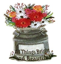 Custom and Unique Spring Blooms With Vase[All Things Bright And Beautifu... - $19.79