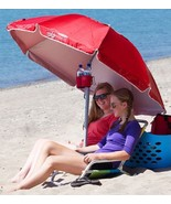 Beach Umbrella Portable Sun Shade Outdoor Sports Cover Camp Picnic Sand ... - $72.49