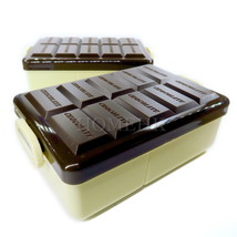 Plastic Lunch Box Chocolate Shape Bento Meal Container Microwave Dinner ... - $8.81