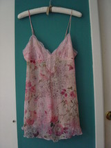 NWT Victoria's Secret Floral Silk & Lace Babydoll Size Small - $26.00