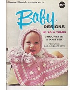 Babies Designs Up to 4 Years Knit & Crochet Star Book 170 - $5.50