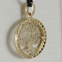 18K YELLOW GOLD TREE OF LIFE PENDANT, 0.75 INCHES, ZIRCONIA, MADE IN ITALY image 3